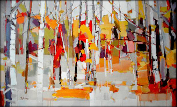 2011 Fall Birches Painting Anysize 50 Off