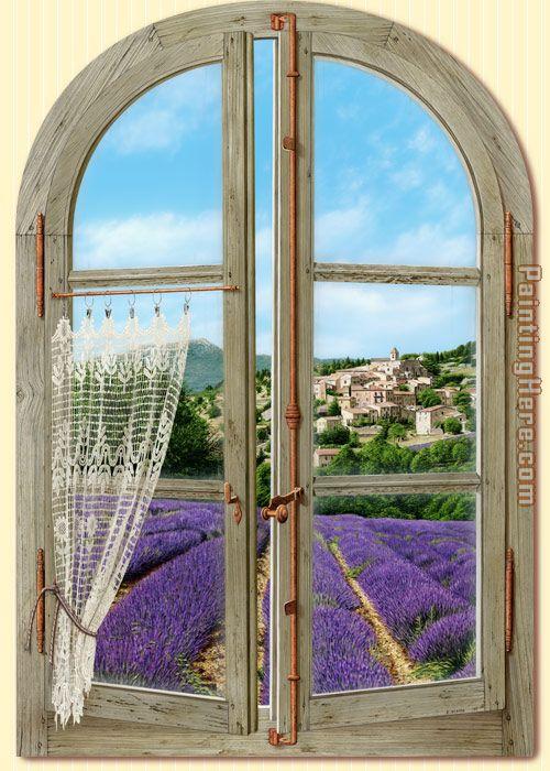 2011 rectangular provence window painting anysize 50 off for Windows fenetre