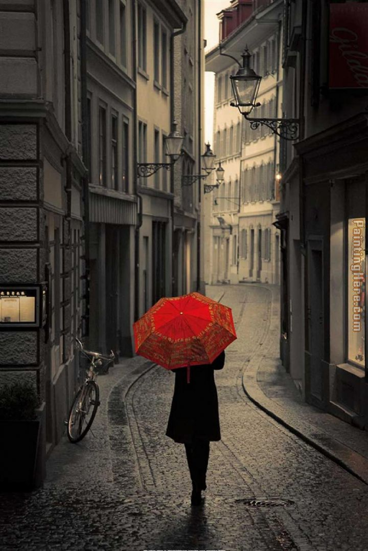 2011 red umbrella 2 painting anysize 50 off for Painting red umbrella