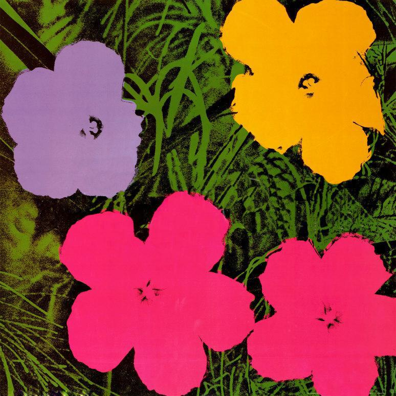 Andy Warhol Flowers 1970 painting anysize 50% off
