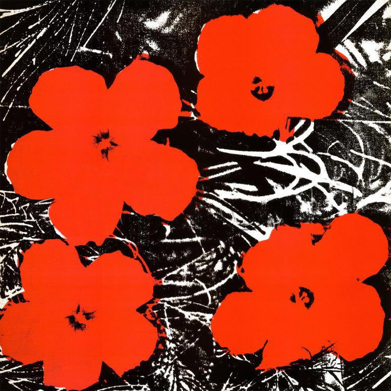 Andy Warhol Flowers Red 1964 painting anysize 50% off