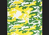 Andy Warhol Camouflage green yellow white
