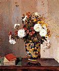 Chrysanthemums In A Chinese Vase