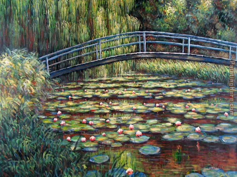 Claude Monet The Water Lily Pond Pink Harmony painting ...