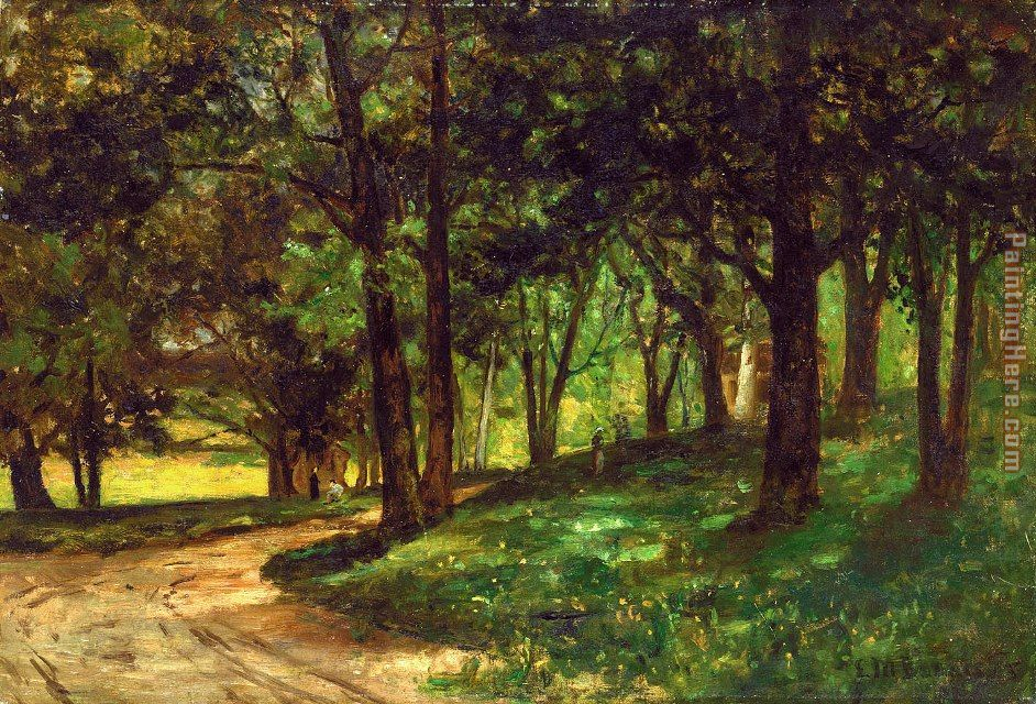 Landscaping With Trees : Edward mitchell bannister landscape with trees painting