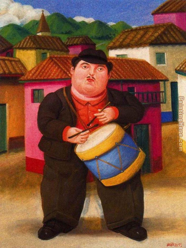 Fernando botero hombre tocando el tambor painting anysize 50 off - Fotos de botero ...