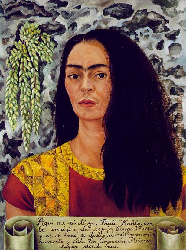 Frida Kahlo Self Portrait with Loose Hair