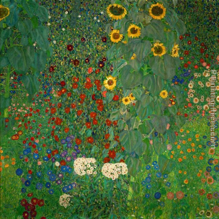 Merveilleux Gustav Klimt Farm Garden With Sunflowers