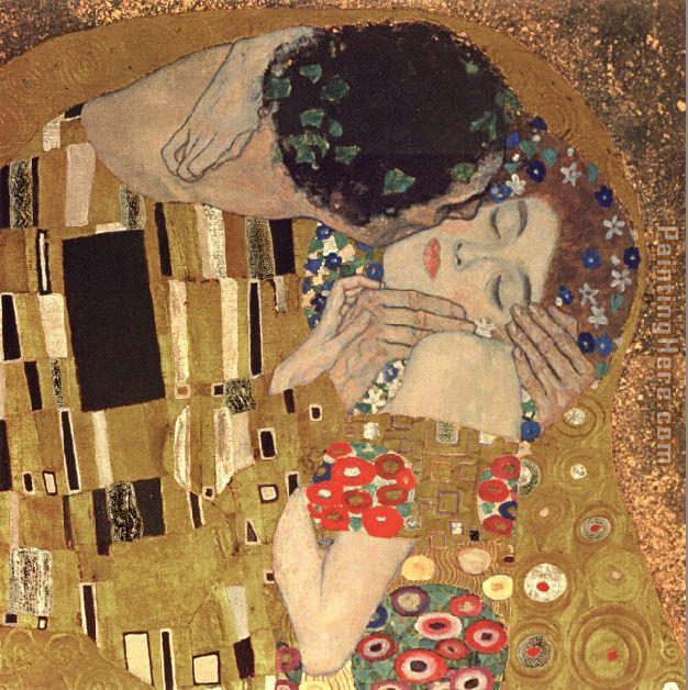 Gustav Klimt the kiss detail painting anysize 50% off