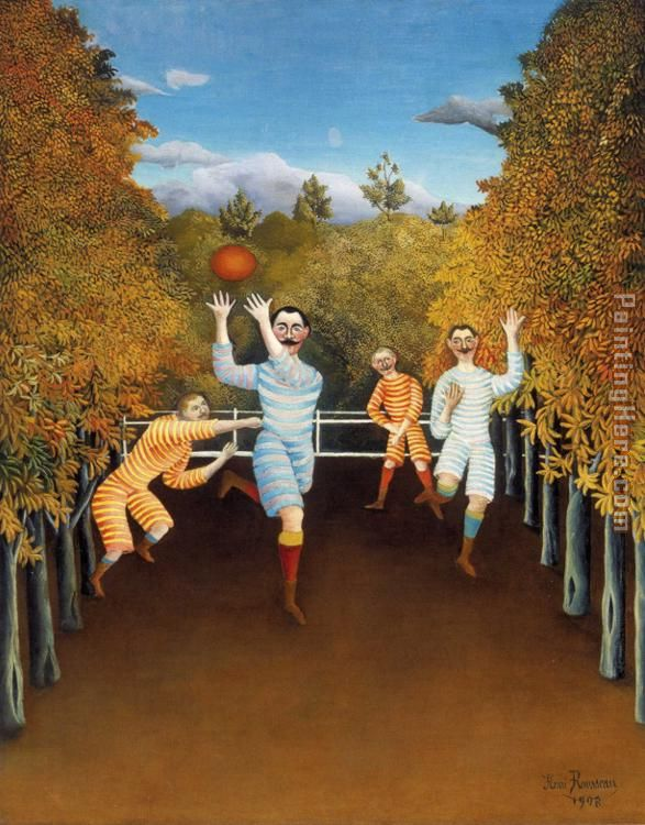 Henri Rousseau The Football Players