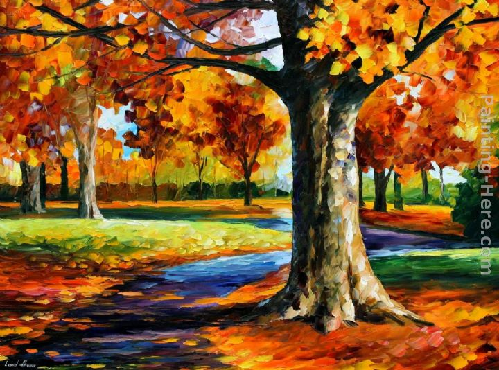 Leonid Afremov BRISTOL FALL painting anysize 50% off
