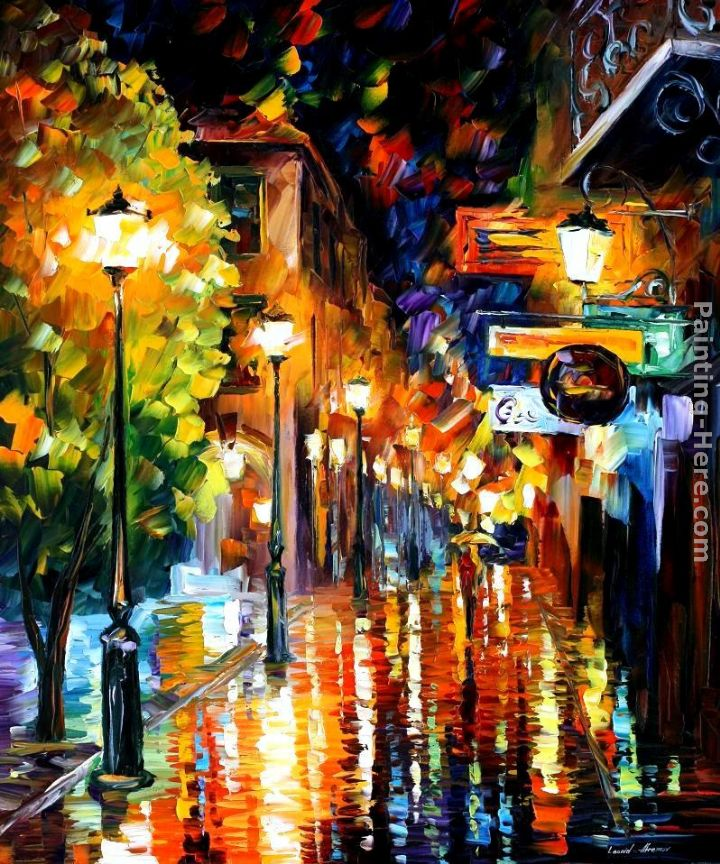 100 Hand Drawn City At Night 3 Knife Painting Modern: Leonid Afremov CITY Painting Anysize 50% Off