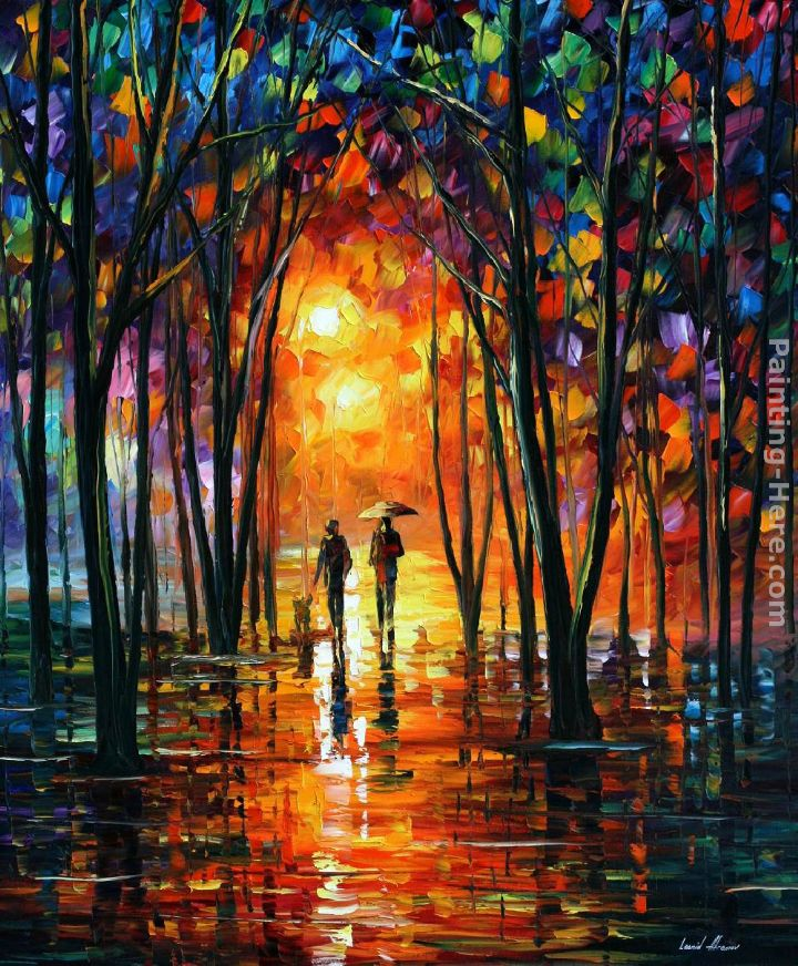 Leonid afremov dark park painting anysize 50 off for Prints of famous paintings for sale