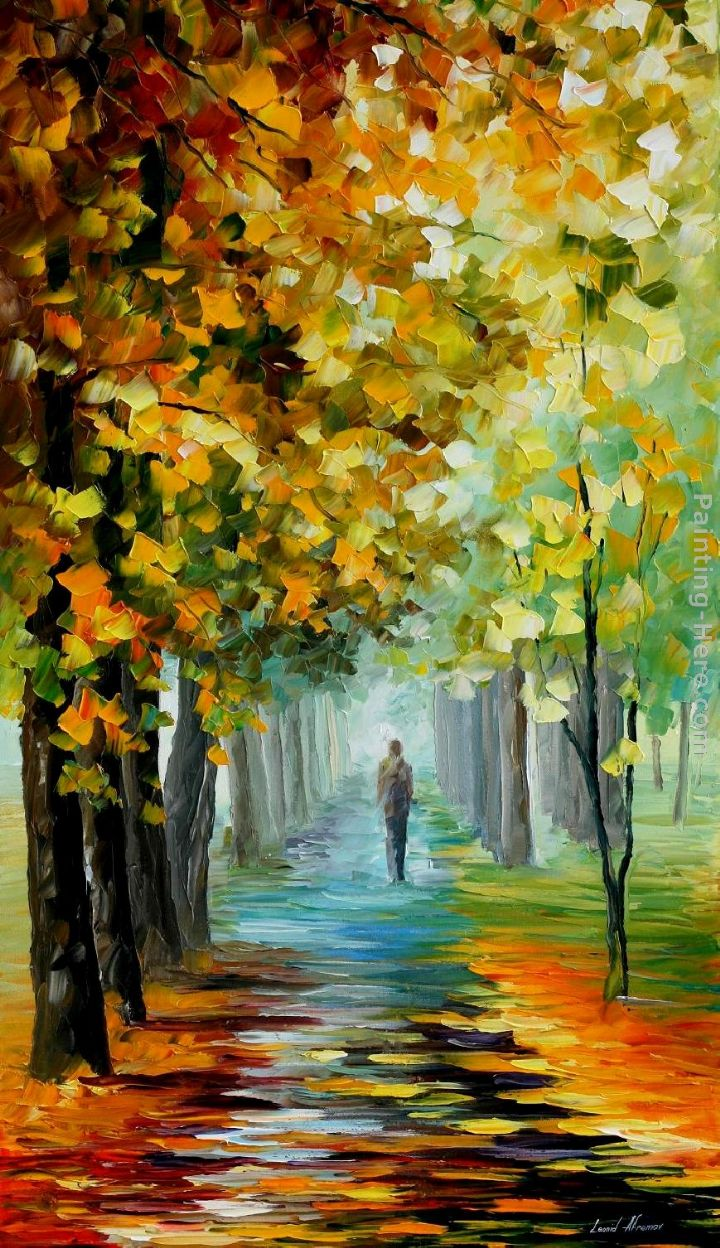 Leonid afremov the music of the fall painting anysize 50 off for Fall pictures to paint