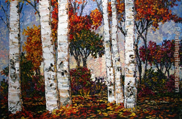 Maya Eventov Glorious Day in the Birches
