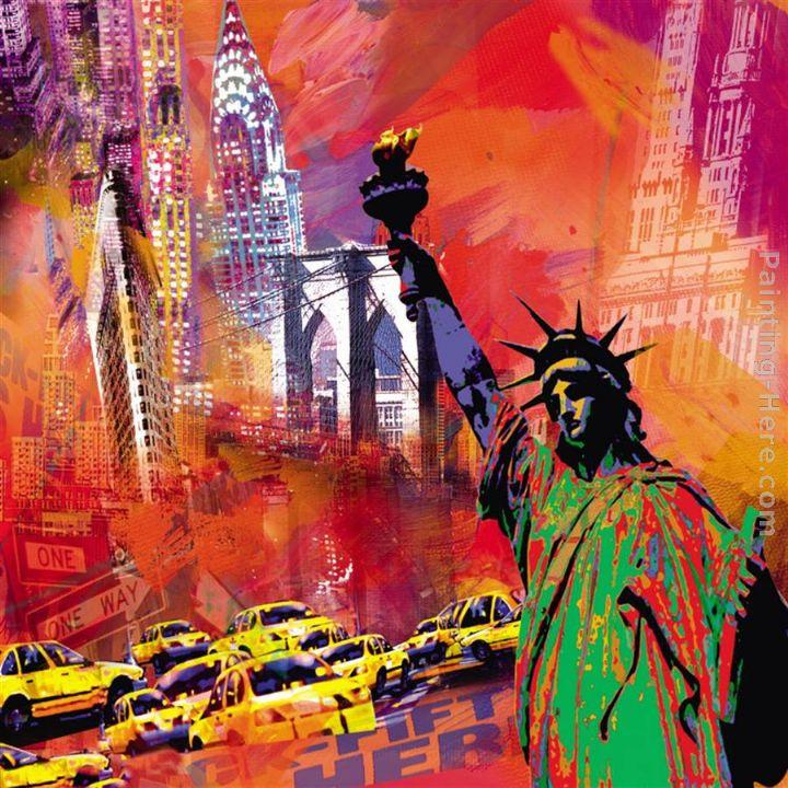 Watercolor New York: Robert Holzach New York Painting Anysize 50% Off