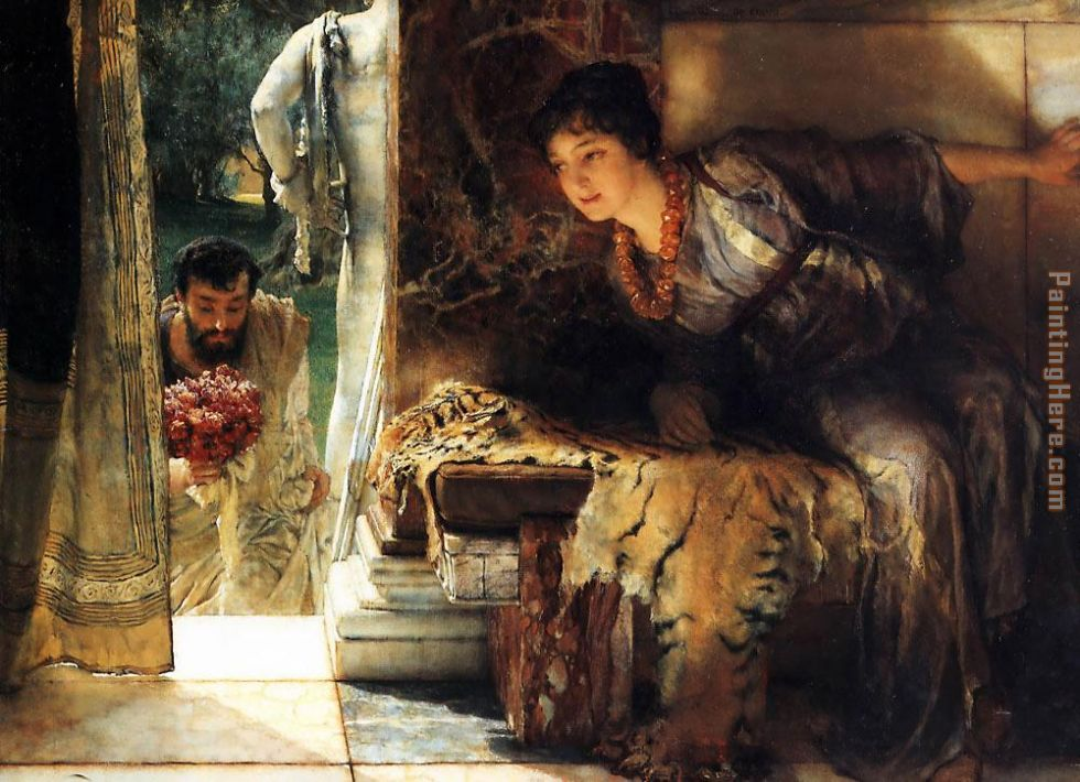 Sir Lawrence Alma-Tadema Welcome Footsteps