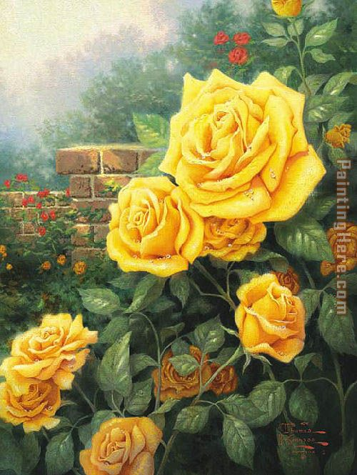 Thomas Kinkade A Perfect Yellow Rose