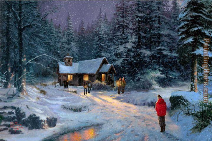 thomas kinkade christmas miracle painting anysize 50 off