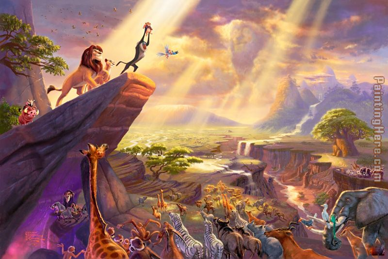 http://www.paintinghere.org/UploadPic/Thomas%20Kinkade/big/Disney%20Dreams%20Collection%20VII%20The%20Lion%20King.jpg