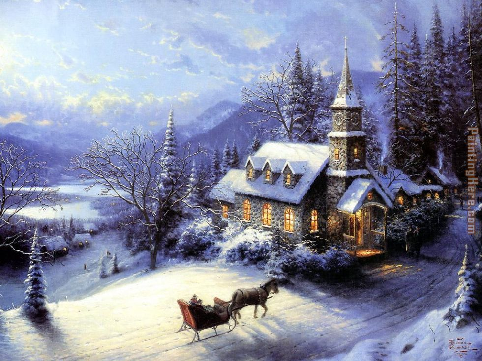 Thomas Kinkade Home For Christmas