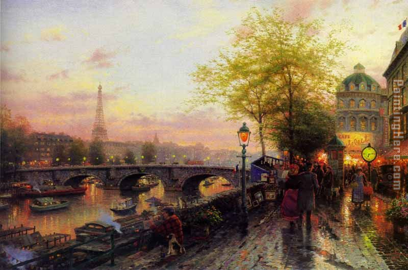 Thomas kinkade thomas kinkade paris eiffel tower painting