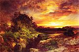Thomas Moran An Arizona Sunset Near the Grand Canyon