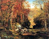 Thomas Moran Cresheim Glen, Wissahickon, Autumn