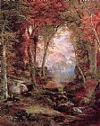 Thomas Moran The Autumnal Woods Under the Trees