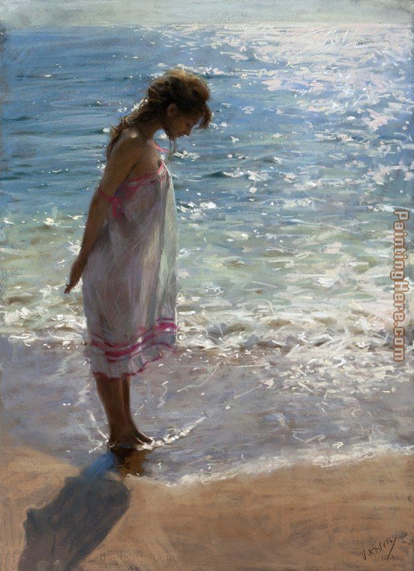 Vicente Romero Redondo Walk On The Beach Ii