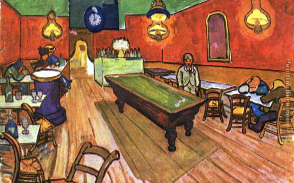 Vincent van Gogh The Night Cafe in the Place Lamartine in Arles