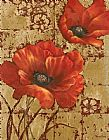 Vivian Flasch Poppies on Gold I