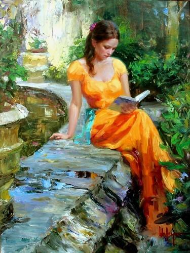 Vladimir Volegov Reading Painting Anysize 50 Off