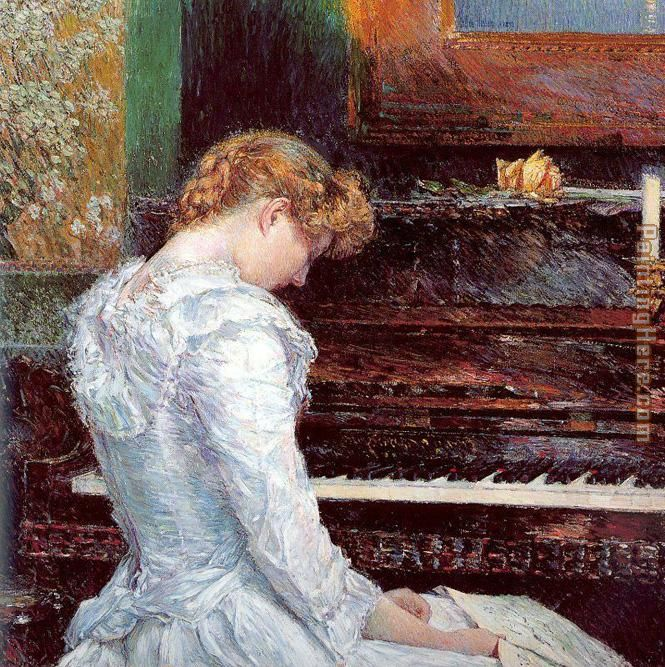 childe hassam The Sonata
