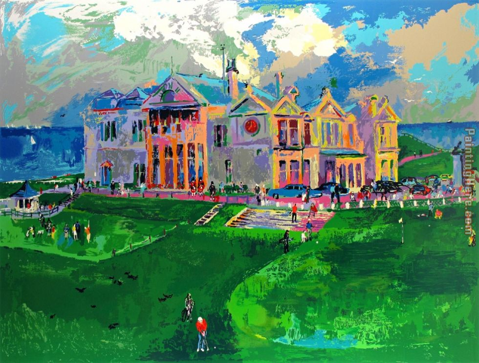 leroy neiman clubhouse at old st andrews painting anysize 50 off. Black Bedroom Furniture Sets. Home Design Ideas