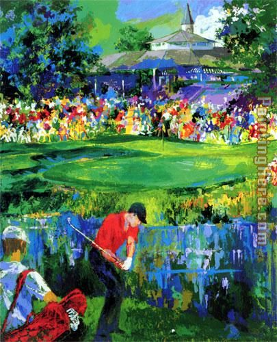 leroy neiman valhalla golf painting anysize 50 off. Black Bedroom Furniture Sets. Home Design Ideas