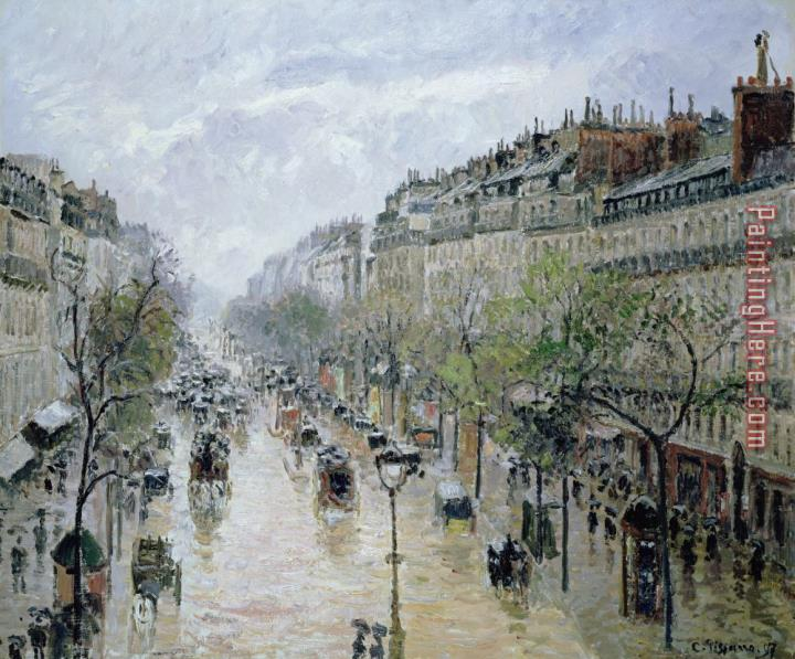 camille pissarro boulevard montmartre painting anysize 50 off. Black Bedroom Furniture Sets. Home Design Ideas