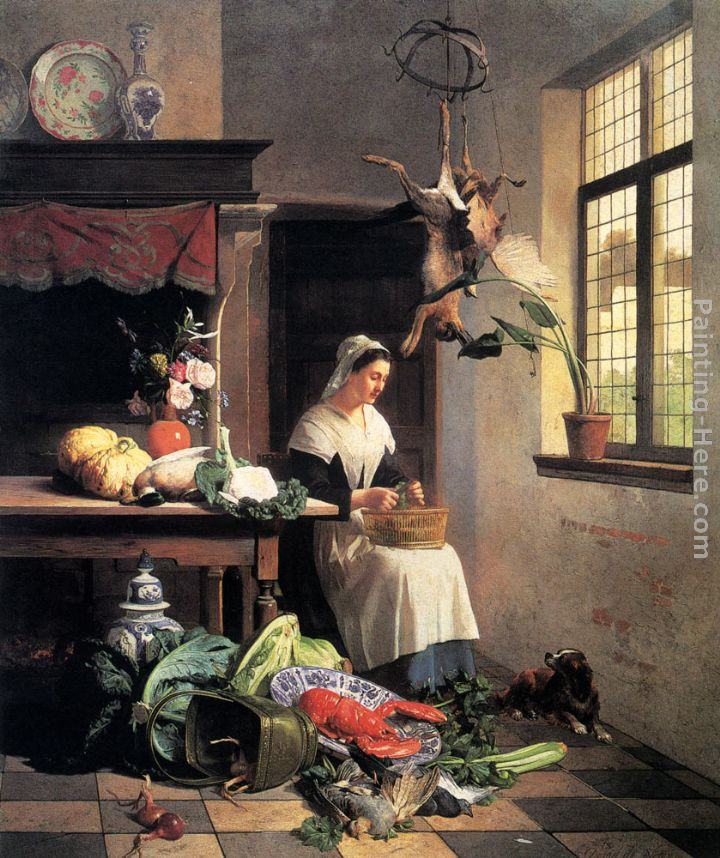 Interior Kitchen Maid david emile joseph de noter a maid in the kitchen painting anysize kitchen