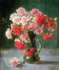 Emile Vernon Still life of Carnations