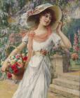 Emile Vernon The Flower Girl