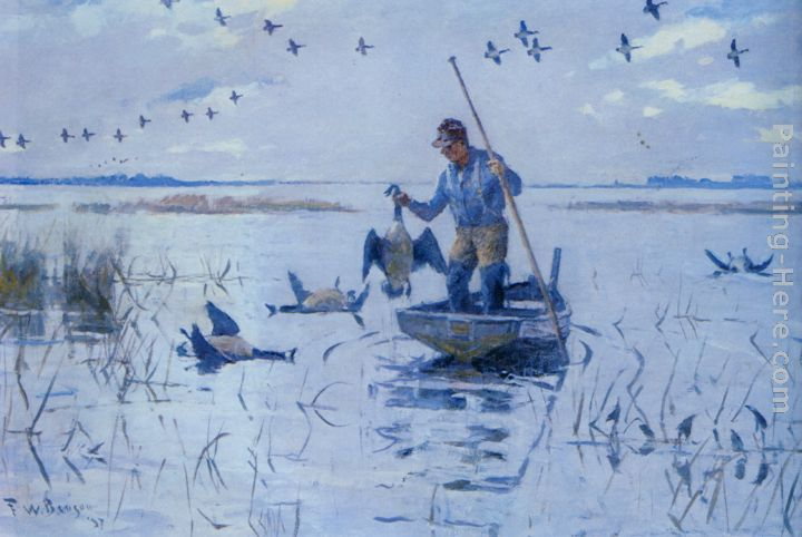 Frank Weston Benson Retrieving Geese