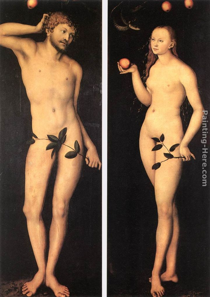Cranach The Elder Adam And Eve The Elder Adam And Eve