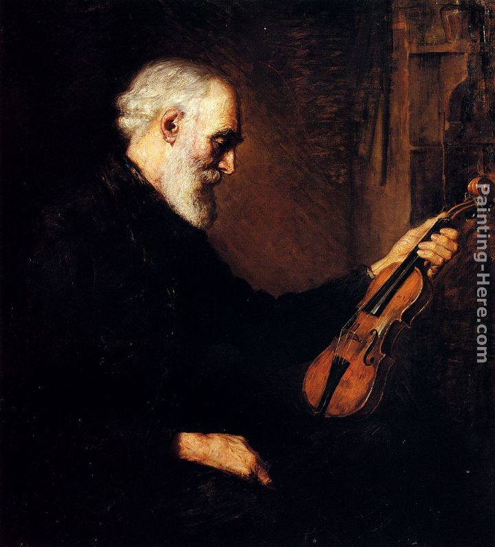 Painting Of An Artist Painting A Violinist