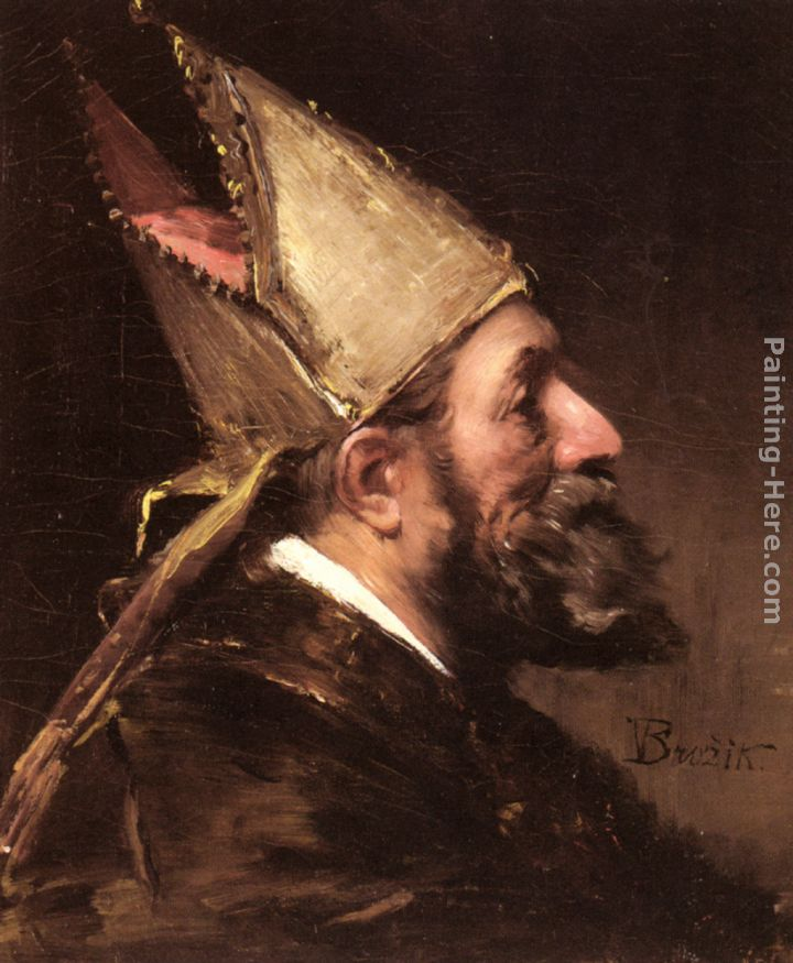 Wenceslas Vacslav Brozik A Bishop