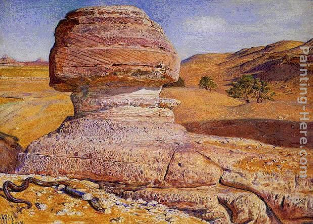 William Holman Hunt The Sphinx, Gizeh, Looking towards the Pyramids of Sakhara