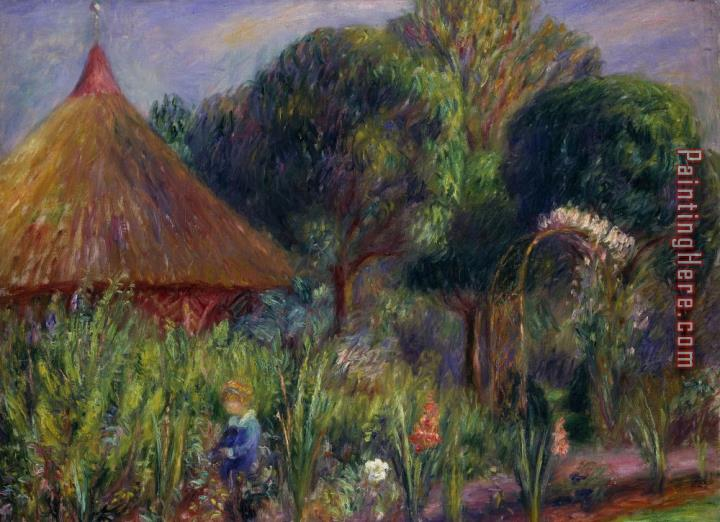 William James Glackens Lenna By A Summer House Painting