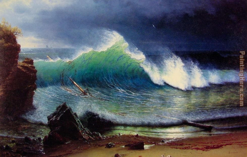 Albert Bierstadt The Shore of the Turquoise Sea painting ...