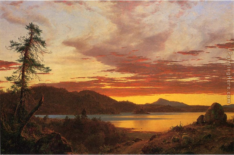 Frederic edwin church sunset painting anysize 50 off for Frederick church paintings