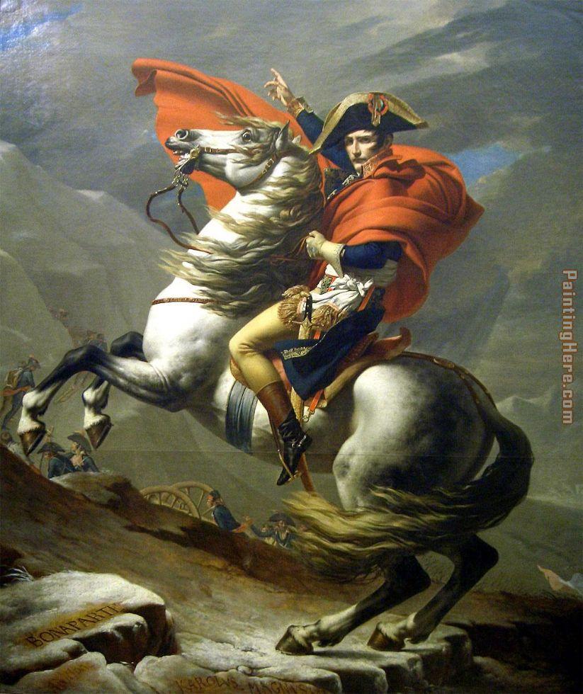 Horse Painting- Napoleon at the Saint-Bernard Pass- Jacques-Louis David