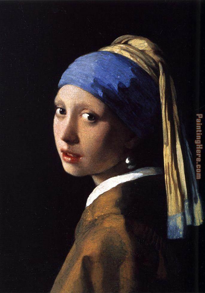 Johannes vermeer girl with the pearl earring painting for Johannes vermeer girl with a pearl earring